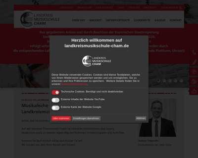 Screenshot (small) http://www.landkreismusikschule.de