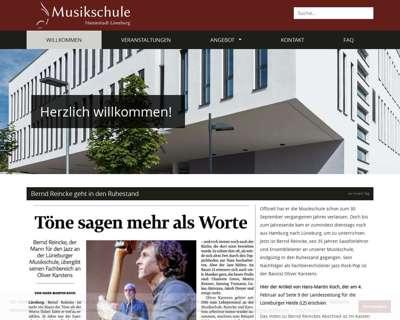 Screenshot (small) http://www.Musikschule-Lueneburg.de