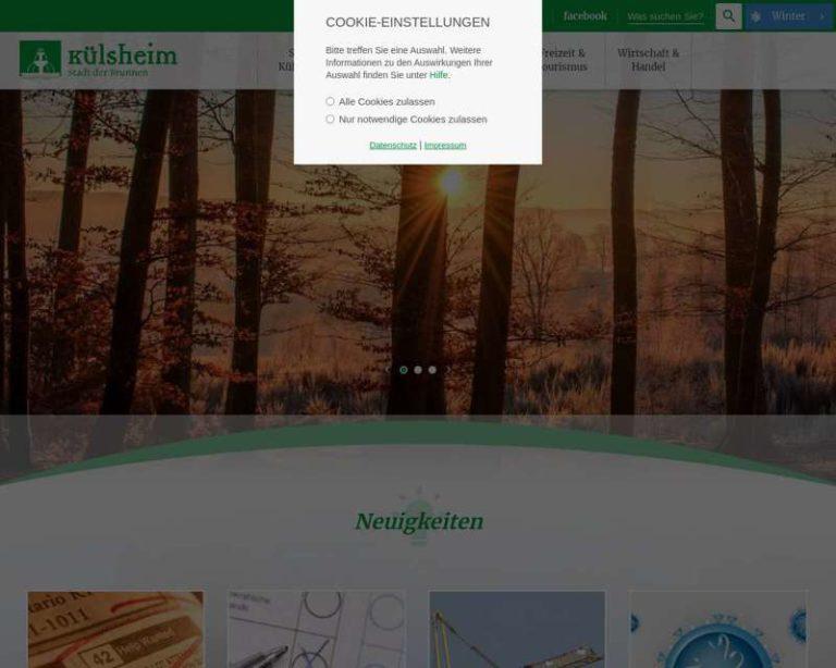 Screenshot (middle) http://www.kuelsheim.de