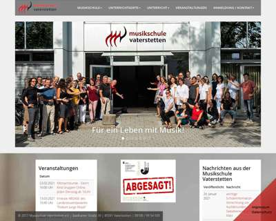 Screenshot (small) http://www.musikschule-vaterstetten.de