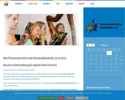 Screenshot (small) http://www.Kreismusikschule-osnabrueck.de