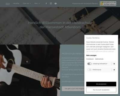 Screenshot (small) http://musikschule-attendorn.de