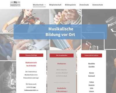 Screenshot (small) http://www.musikschule-strasslach.de