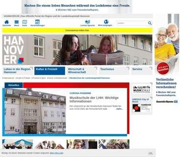 Screenshot (small) http://www.musikschule-hannover.de