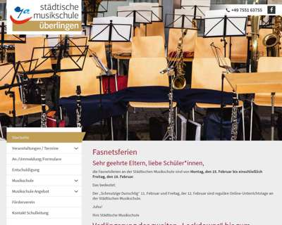 Screenshot (small) http://www.musikschule-ueberlingen.de