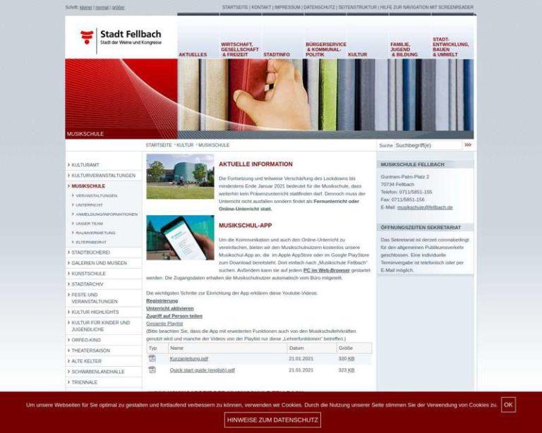 Screenshot (middle) http://www.musikschule.fellbach.de