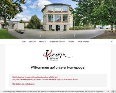 Screenshot (small) http://www.musikschule-tettnang.de