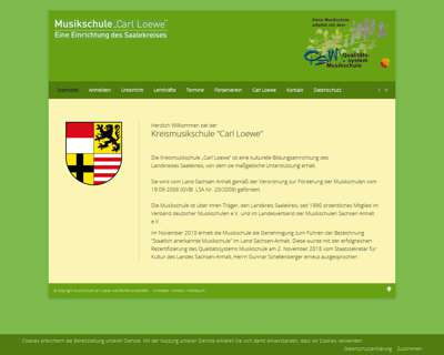 Screenshot (small) http://www.musikschule-carl-loewe.de