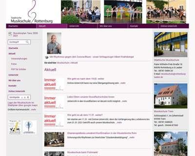 Screenshot (small) http://www.musikschule-rottenburg-laaber.de