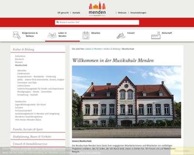 Screenshot (small) http://www.menden.de/musikschule