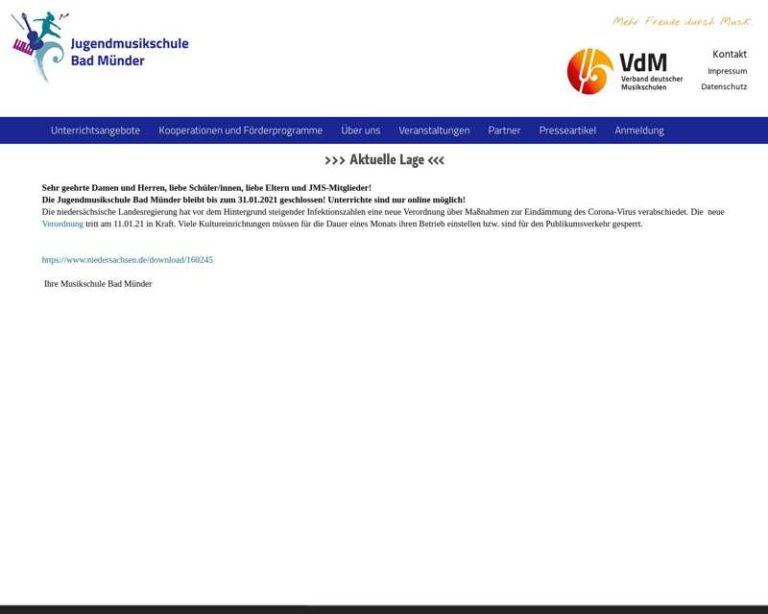 Screenshot (middle) http://www.jms-bad-muender.de