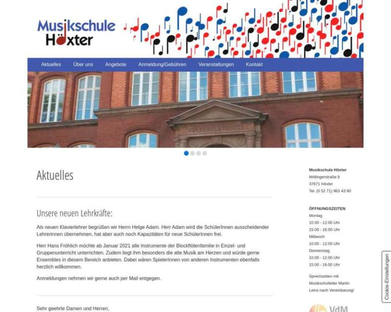 Screenshot (middle) http://www.musikschule-hoexter.de