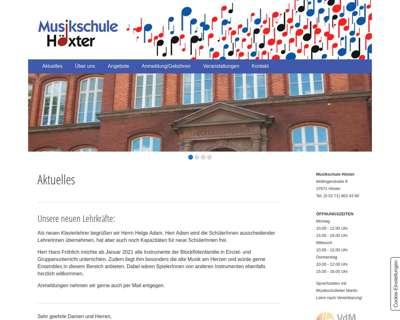 Screenshot (small) http://www.musikschule-hoexter.de