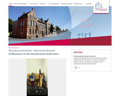 Screenshot (small) http://www.musikschule-euskirchen.de