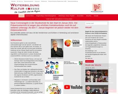 Screenshot (small) http://www.musikschule.coesfeld.de