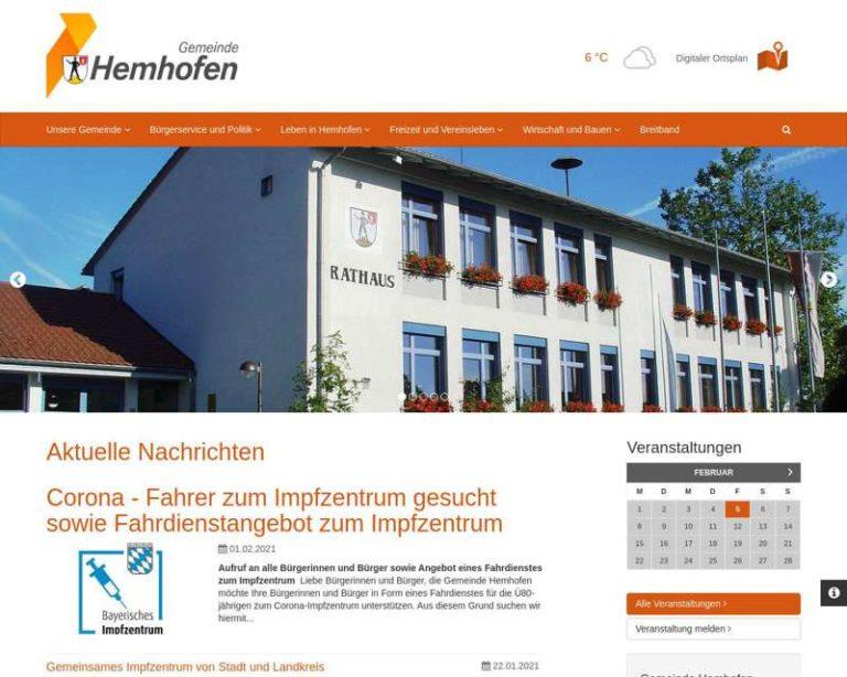 Screenshot (middle) http://www.hemhofen.de
