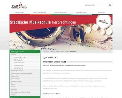 Screenshot (small) http://www.herbrechtingen.de/musikschule