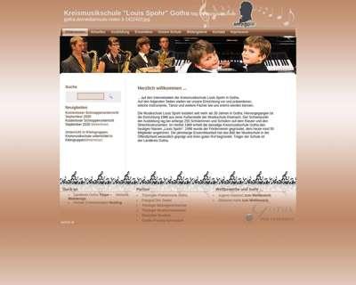 Screenshot (small) http://www.kreismusikschule-gotha.de