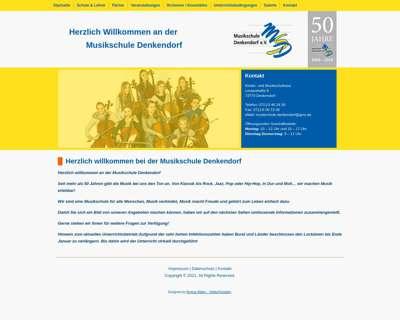 Screenshot (small) http://www.musikschule-denkendorf.de