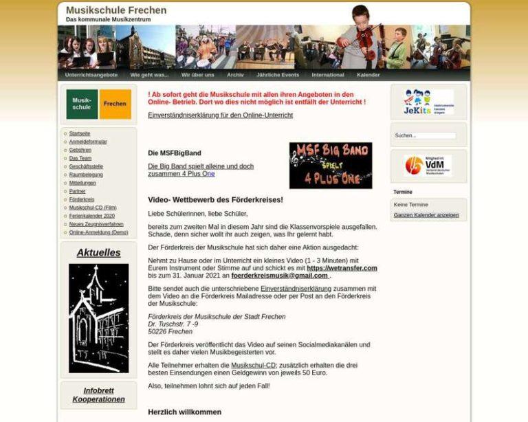 Screenshot (middle) http://www.musikschule-frechen.de