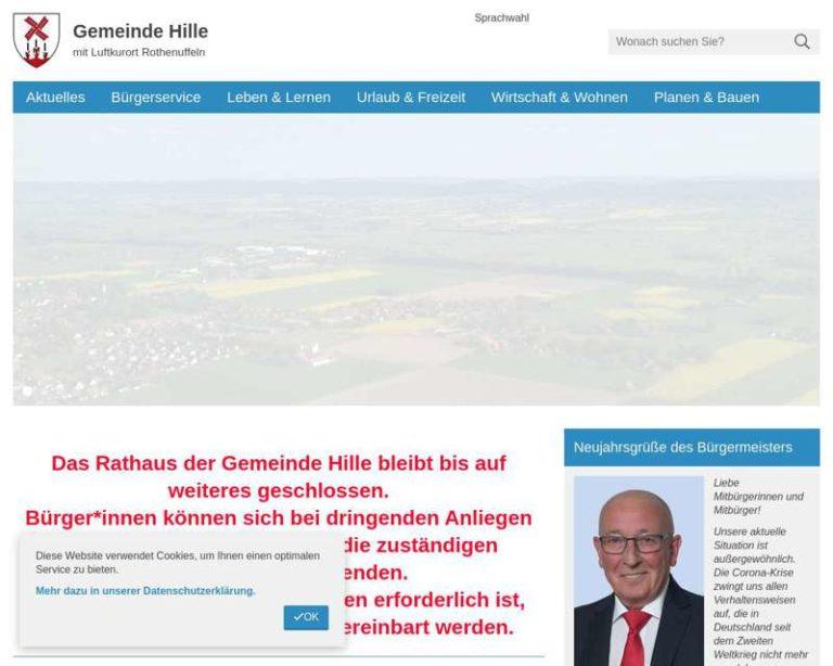 Screenshot (middle) http://www.hille.de