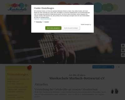 Screenshot (small) http://www.musikschule-marbach-bottwartal.de