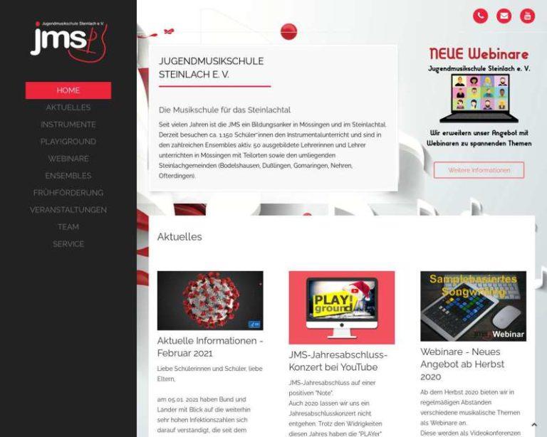 Screenshot (middle) http://www.jms-steinlach.de