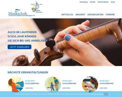 Screenshot (small) http://www.musikschule-schwetzingen.de