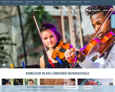 Screenshot (small) http://www.Luebecker-Musikschule.de