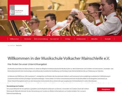 Screenshot (small) http://www.musikschule.volkach.de