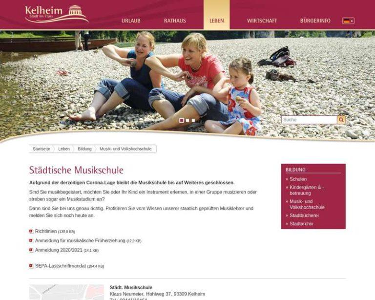 Screenshot (middle) http://www.musikschule-kelheim.de
