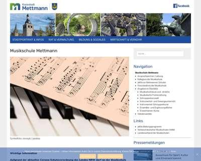Screenshot (small) http://www.mettmann.de/musikschule