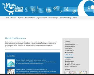 Screenshot (small) http://www.musikschule-laatzen.de