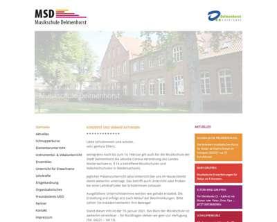 Screenshot (small) http://www.musikschule-delmenhorst.de
