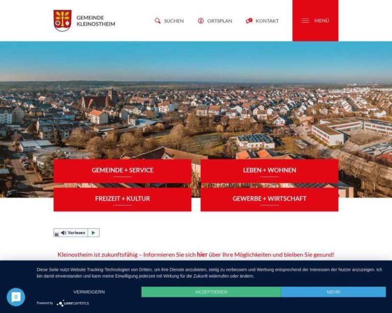 Screenshot (middle) http://www.kleinostheim.de