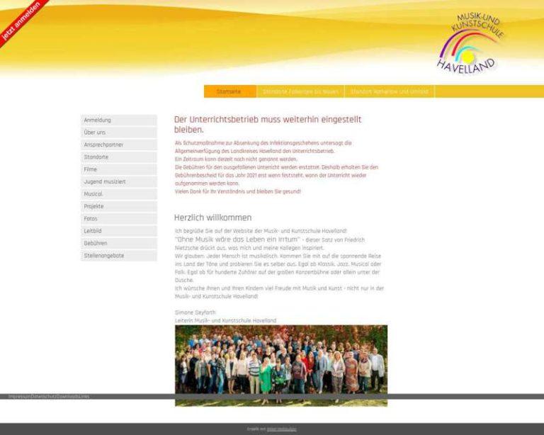 Screenshot (middle) http://www.mks-havelland.de