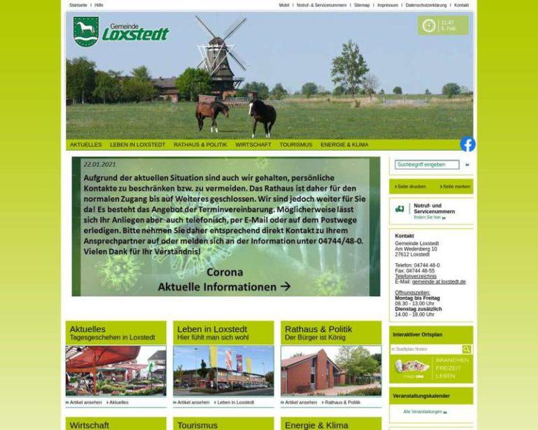 Screenshot (middle) http://www.loxstedt.de