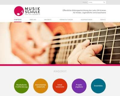 Screenshot (small) http://www.musikschule-lahn-dill.de