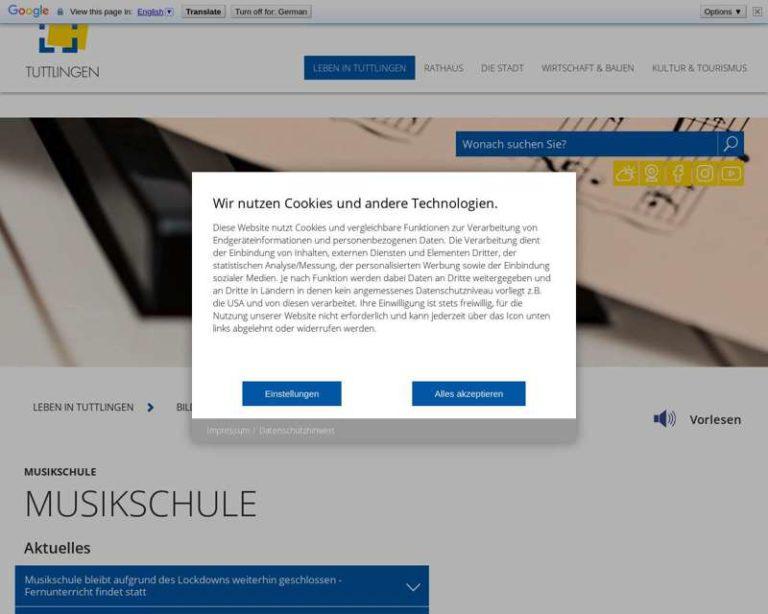 Screenshot (middle) http://www.musikschule-tuttlingen.de