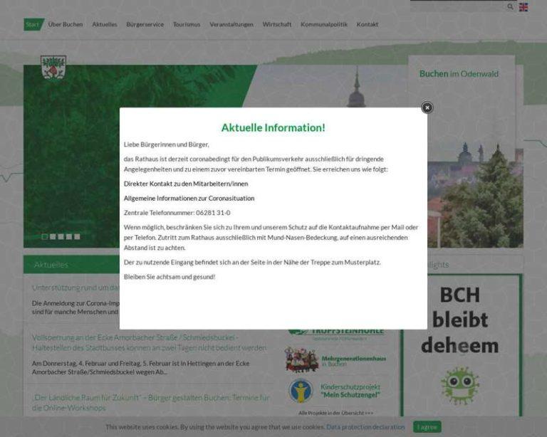 Screenshot (middle) http://www.buchen.de