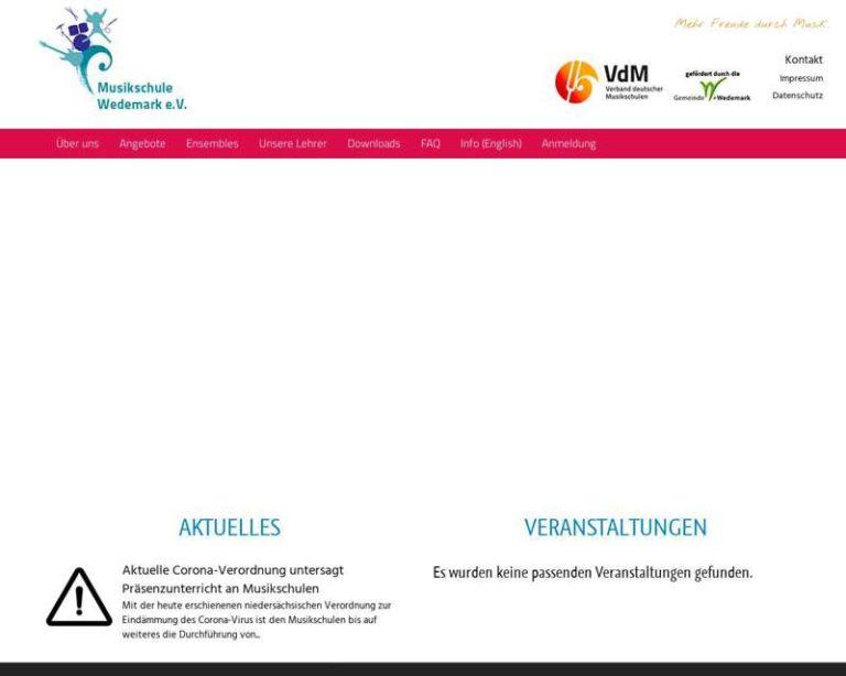 Screenshot (middle) http://www.musikschule-wedemark.de