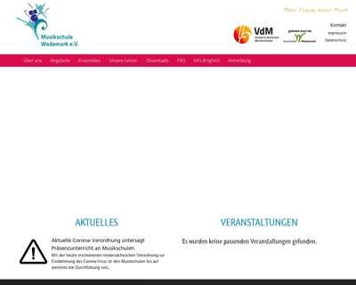 Screenshot (small) http://www.musikschule-wedemark.de