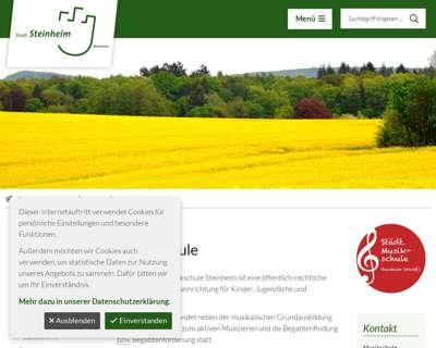 Screenshot (small) http://www.steinheim.de/Leben-in-Steinheim/Bildung/Musikschule