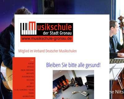 Screenshot (small) http://www.musikschule-gronau.de