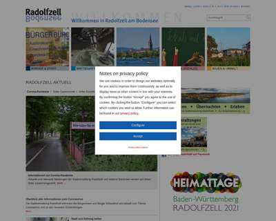 Screenshot (small) http://www.radolfzell.de