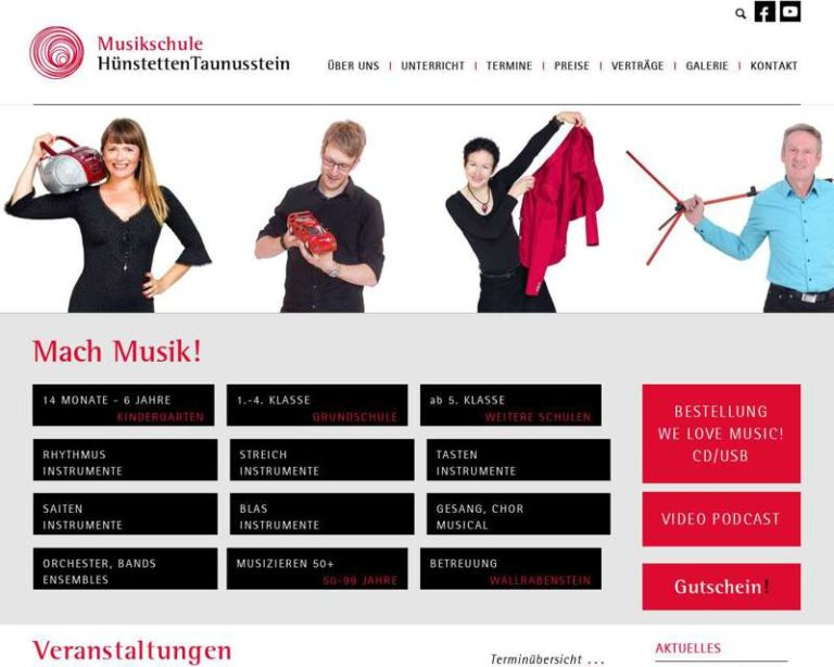 Screenshot (middle) http://www.musikschule-ht.de