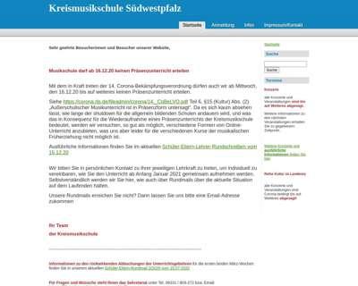 Screenshot (small) http://www.kreismusikschule-suedwestpfalz.de