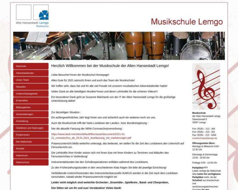 Screenshot (middle) http://www.musikschule-lemgo.de