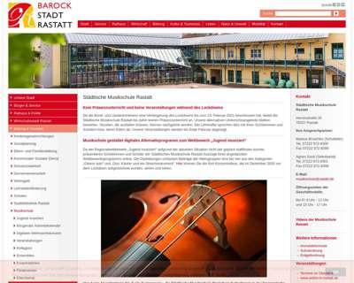 Screenshot (small) http://www.musikschule-rastatt.de