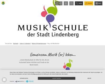 Screenshot (small) http://www.musikschule-lindenberg.de